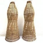 OUTDOOR FISH TRAP Large 1090mm (One Pair) Bubu Lantai Rattan Lure Bait Traditional Fishing
