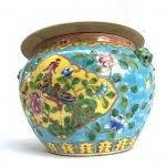 CHINESE BOWL (XXL 260mm) PERANAKAN Baba Nyonya Kamcheng Covered Jar Porcelain Box Asia