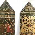 PAINTED ARMOR (1 pair) SHIELD Borneo Hand Painted Tribal Artwork Painting Animal & Myth
