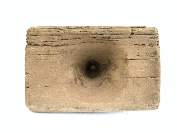 PESTLE MORTAR 236mm LESUNG Traditional Antique Wood Paddy Farming Artifact Sculpture