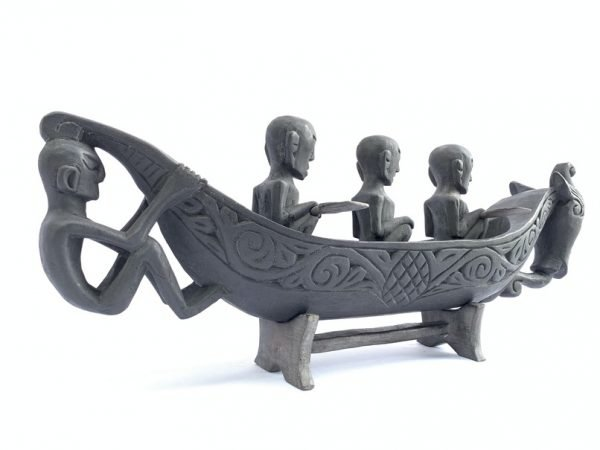 SERPENT BOAT 580mm Naga Morsarang Batak People Tribe Statue Sculpture Figure Figurine Vessel