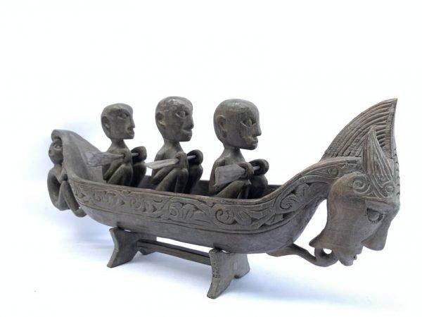 MYTHICAL BOAT 580mm Sahan Vessel Naga Morsarang Batak Tribe Statue Sculpture Figure Figurine