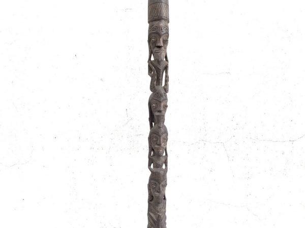 CARVED POLE TUNGGAL Panaluan 1740mm Batak Ritual Stick Ceremonial Statue Sculpture Figurine