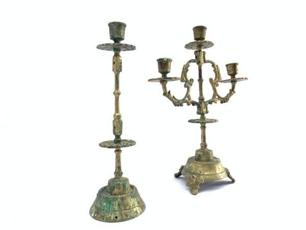 CANDLE HOLDER Antique Romantic Brassware Candelabra Stand Dining Castle Mansion Old School