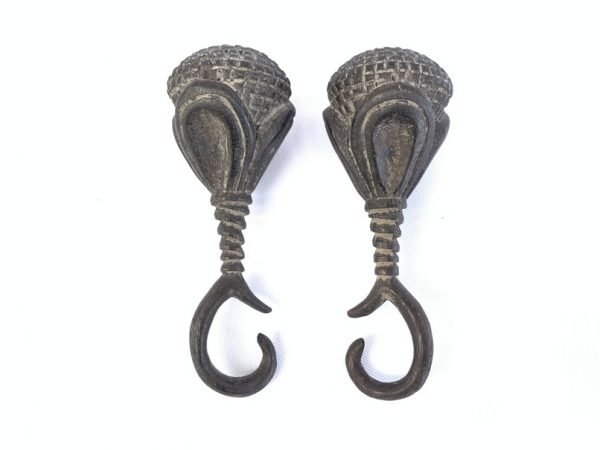 WOOD EARWEIGHT 95mm Giant Borneo Earring Tribal Ear Body Piercing Areca Betel Nut