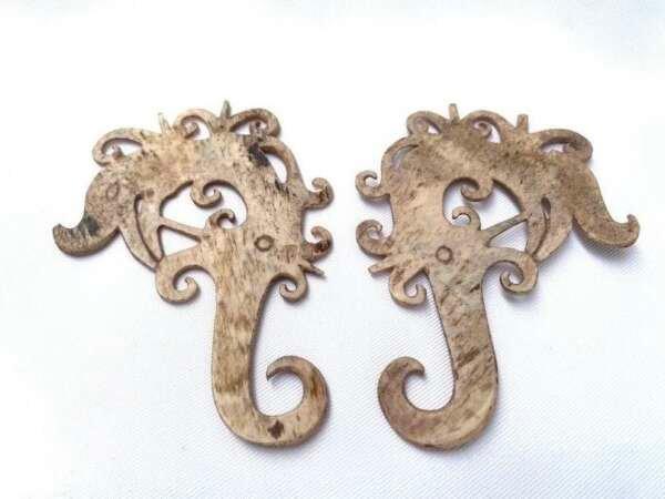 BONE EARRING (1 pair) Authentic Tribal Earring Earweight Jewel Jewelry Dayak Dyak Borneo Body Piercing