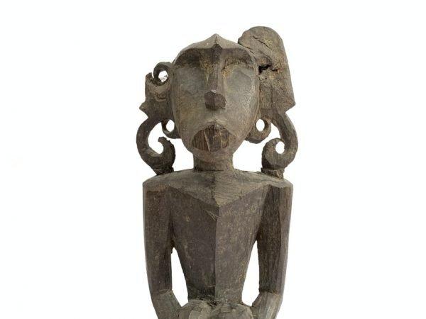 STATUE GUARDIAN 460mm RARE Ancestral Kenyah Figure Antique Old Figurine Effigy Sculpture Borneo