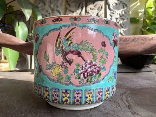 PERANAKAN JOSS STICK 190mm Holder Pot Pottery Vase Chinese Nyonya Incense Burner