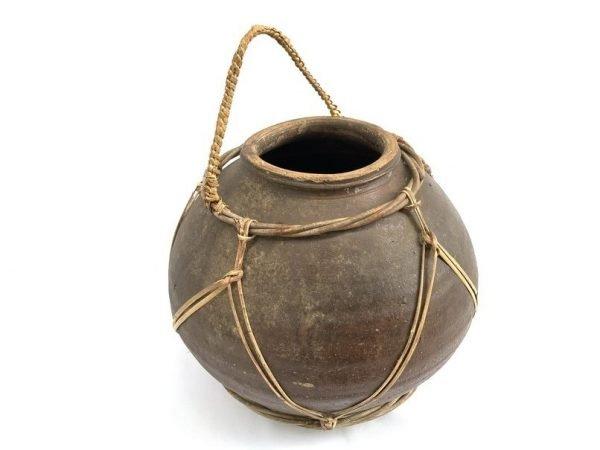 WINE JAR 300mm ANTIQUE Ching Dynasty(1644-1912) Rice Liquor Alcohol Pot Pottery Vase Porcelain