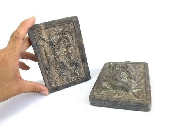 BORNEO TATTOO (1 Pair) Tattooing Ink Block Stamp Cast Print Body Piercing Statue Figurine