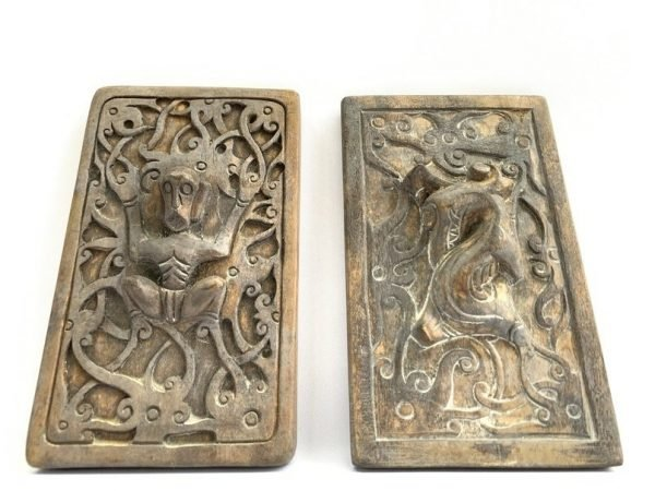 TRADITIONAL TATTOOING (One Pair xL) Ironwood Tribal Body Piercing Stamp Chop Print Sculpture Statue Borneo