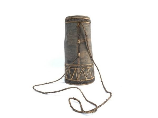 TREE BARK CONTAINER 285mm Tribal Hunting Box Lupong Forest Sling bag Borneo Headhunter Dayak
