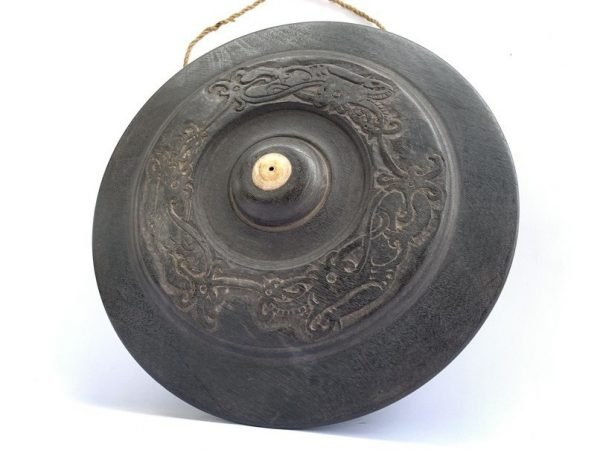 WOODEN GONG 360mm BORNEO Drum Music Musical Tribal Percussion Instrument