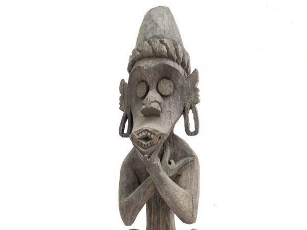 HOUSE GUARDIAN STATUE 735mm Antique Borneo Figure Figurine Home Protection Ironwood Sculpture Animal