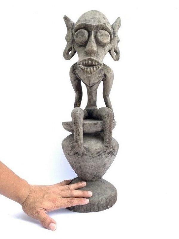 HOME PROTECTOR FIGURINE 600mm Antique Ancestral Animal Statue Figure Sculpture Dayak Borneo Tribe