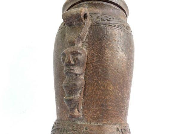 MEDICINE JAR 330mm ANTIQUE BOX Batak Simalungun Jewelry Herb Tribal Container