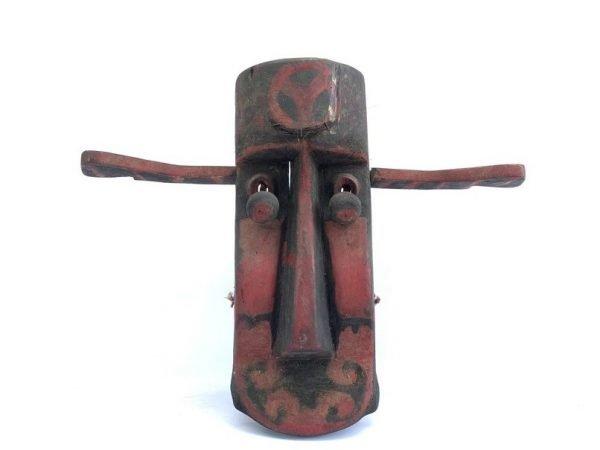 TRIBAL ARTICULATED MASK 540mm Rare Bidayuh Masque Dayak Borneo Sculpture Figurine Wall Hanging