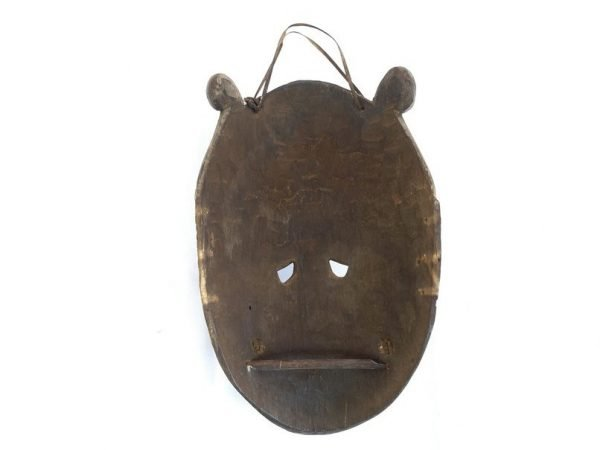 OLD BORNEO MASK 330mm Dayak Bahau Dancing Hudog Masque Tribal Wooden Artifact Sculpture Asia