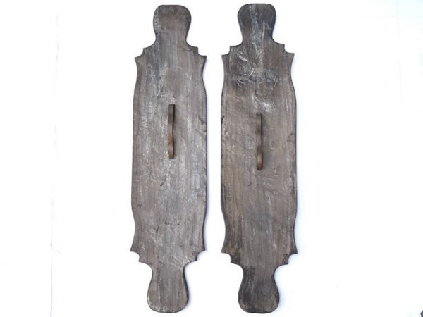 BATTLE SHIELD (1240mm 1 Pair) Tribal War Armor Wood Carving Wall Hanging Deco Sculpture