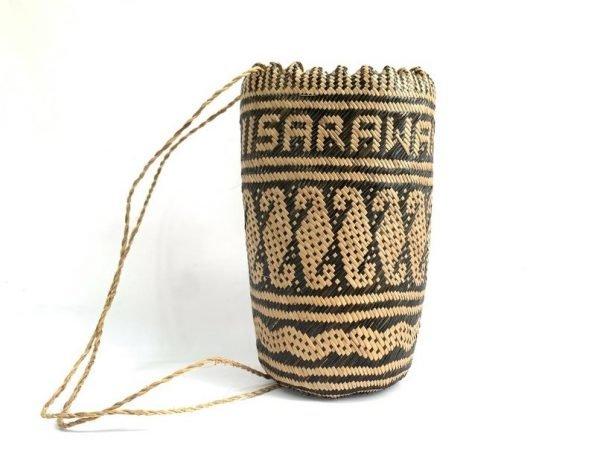 BORNEO BAG AJAT 350mm (Lintah/Leech Pattern) Fiber Art Backpack Handbag Tribal Carrier #6